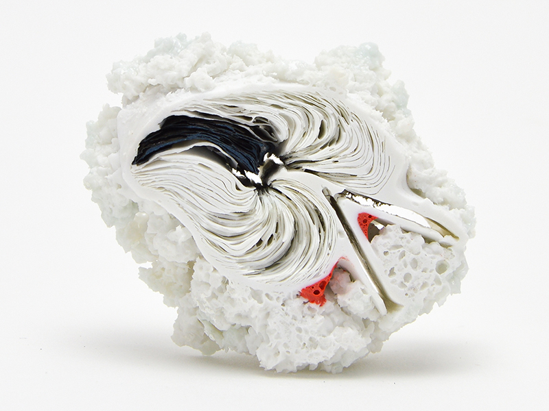 'Miniature Holy Bible Black White and Red I' by Emily Connell, Ohio University